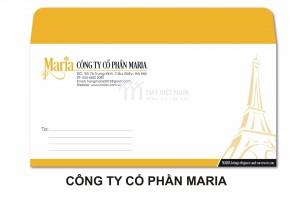 Mẫu in phong bì công ty cổ phần Maria