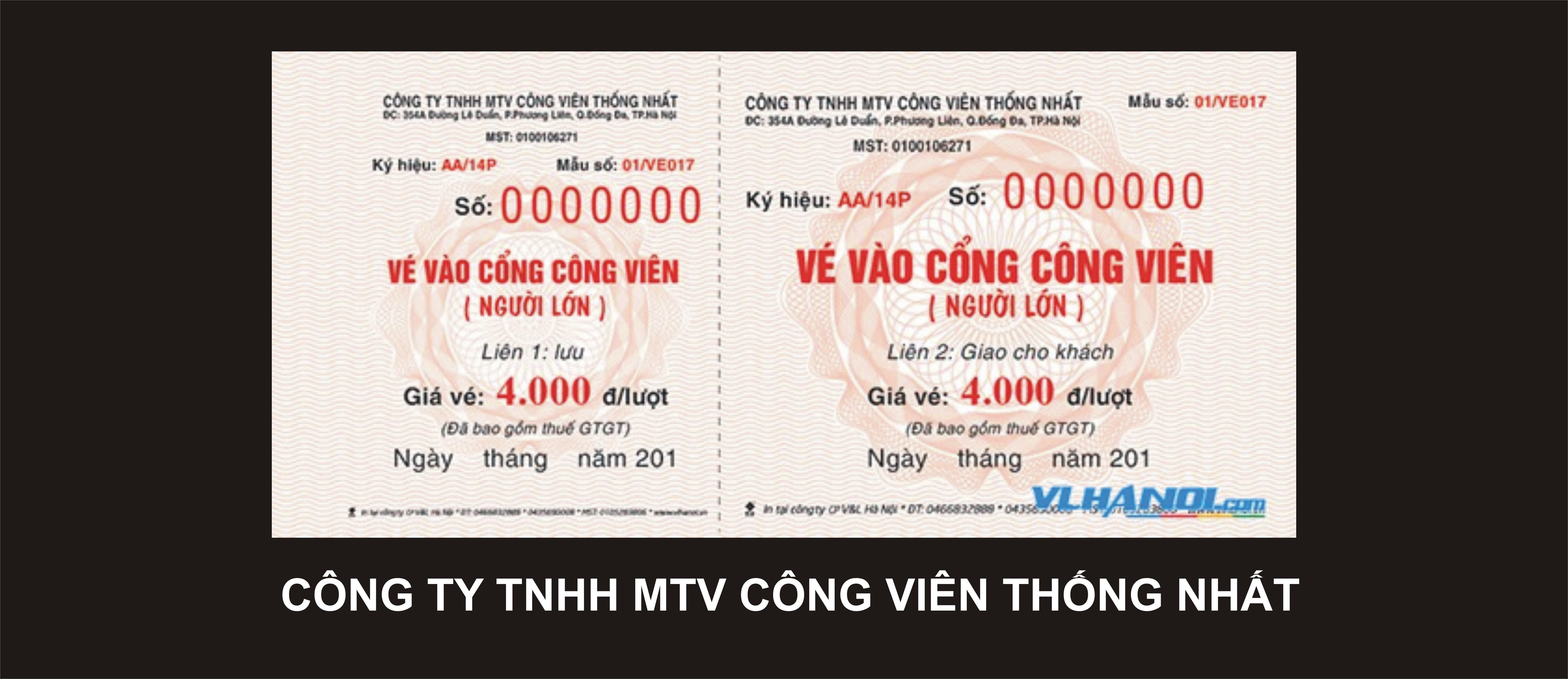 CÔNG TY TNHH MTV CÔNG VIÊN THỐNG NHẤT