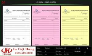 HÓA ĐƠN THANH TOÁN LA CASA HANOI HOTEL