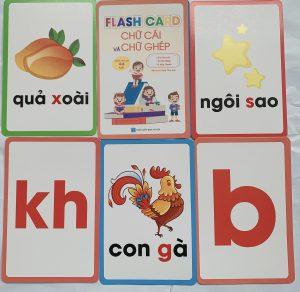 Flash card chữ cái và chữ ghép  ( Dành cho bé 3-5 tuổi)